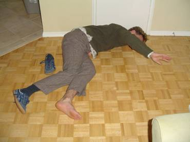 drunk guy on floor