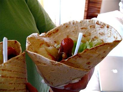 hot dog wrap