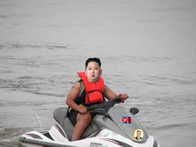 korea kim jong un jet ski