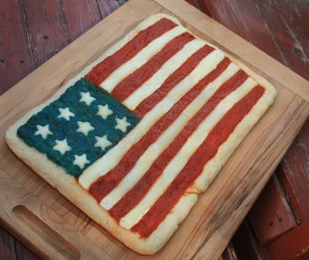 america flag pizza