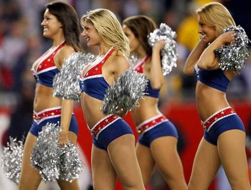 american flag cheerleaders