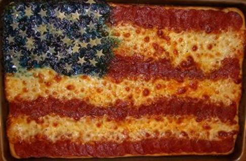 gross american flag pizza