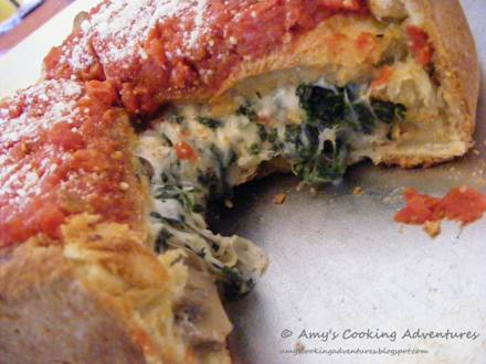 spinach stuffed pizza