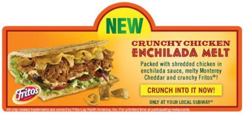subway crunch chicken enchilada melt