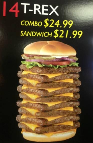 t-rex burger