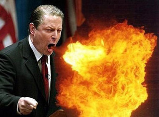 al gore breathing fire