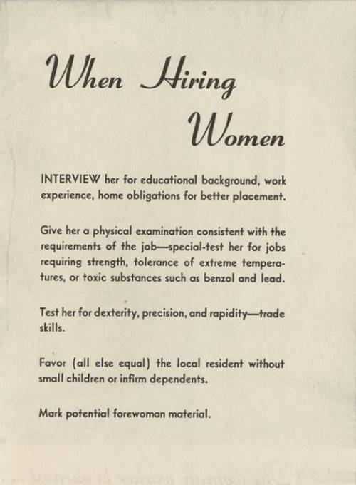 when hiring women