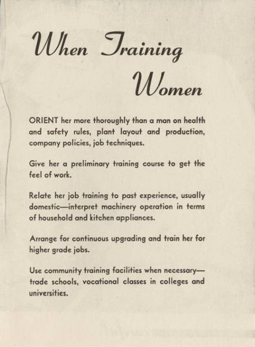 when training women