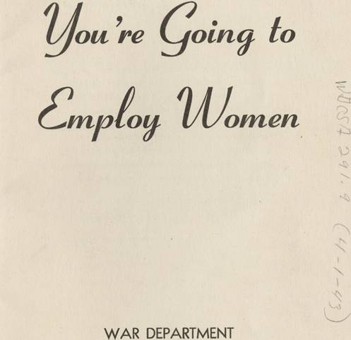 you're going to employ women