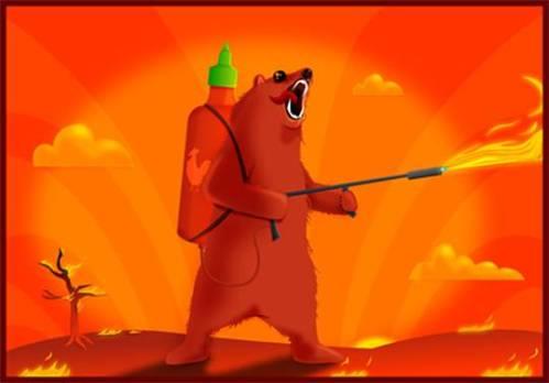 oatmeal sriracha bear