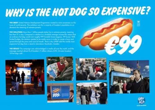 99 euro hot dog