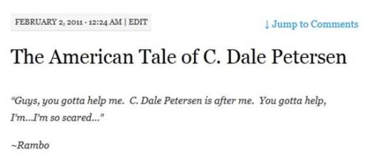 american tale of c dale petersen