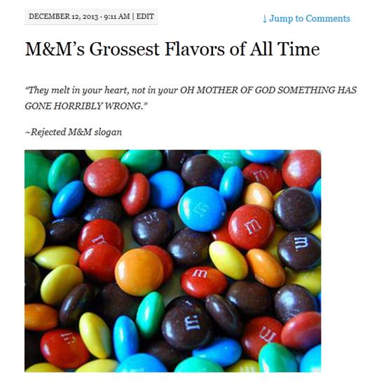 m&m screenshot