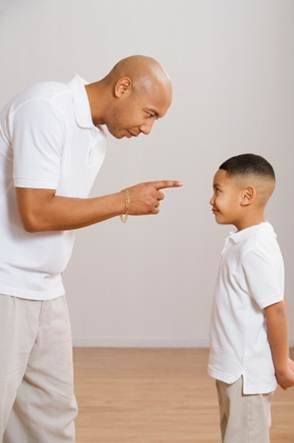 scolding father