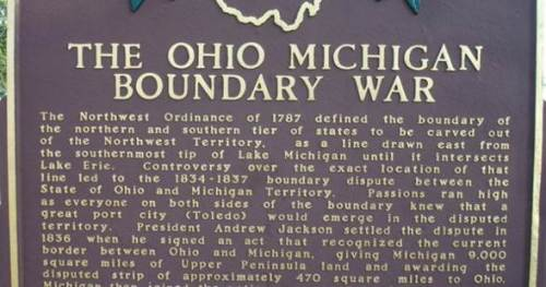 ohio michigan boundary war