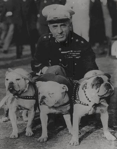 butler and his dogs