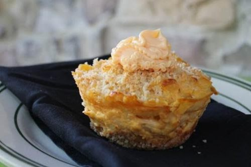 mac and cheese cupcake