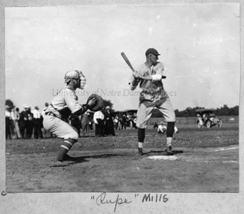 rupert mills playing baseball