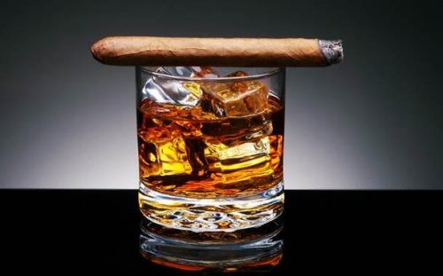 whiskey cigar