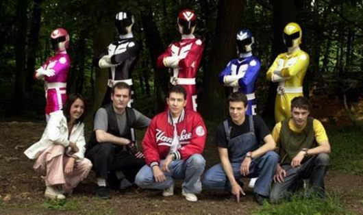 like the power rangers had a baby with a foreigner who calls everybody guy