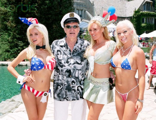 Hugh Hefner's 4th of July Party at the Playboy Mansion