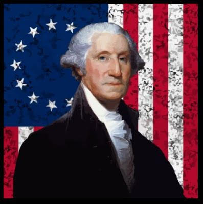 washington with a flag
