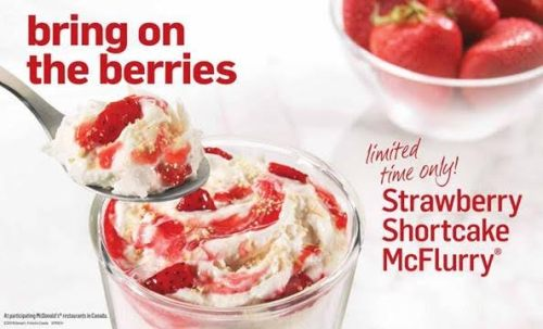 strawberry shortcake mcflurry