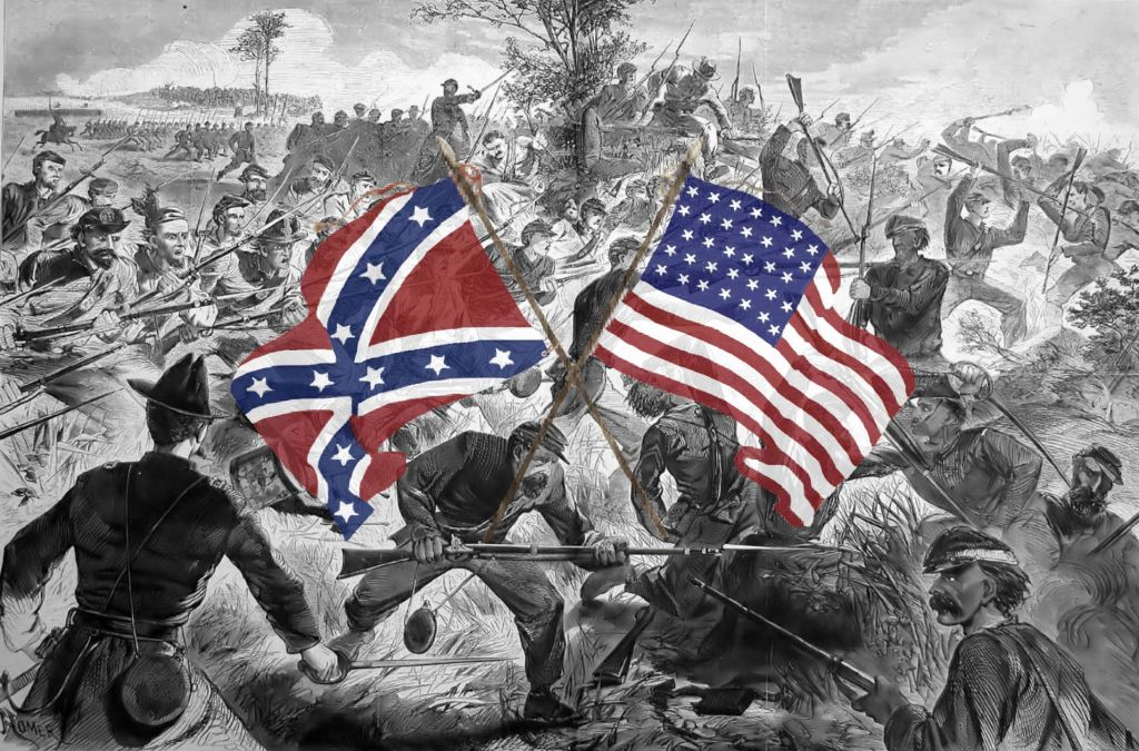 Image of Civil War battle