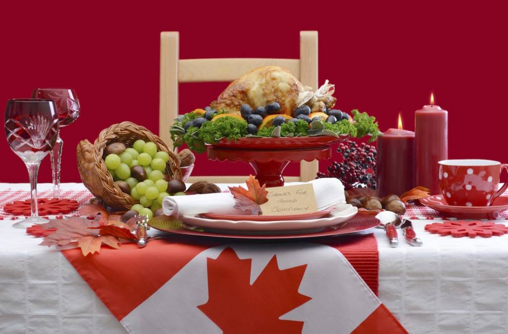 Canadian Thanksgiving Table Spread